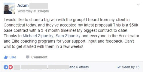 I would like to share a big win with the group! My biggest contract to date!