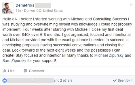 I got organized, focused and intentional and Michael provided me with the exact guidance I needed to succeed.