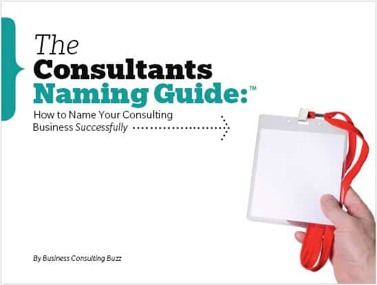 Consultants Naming Guide