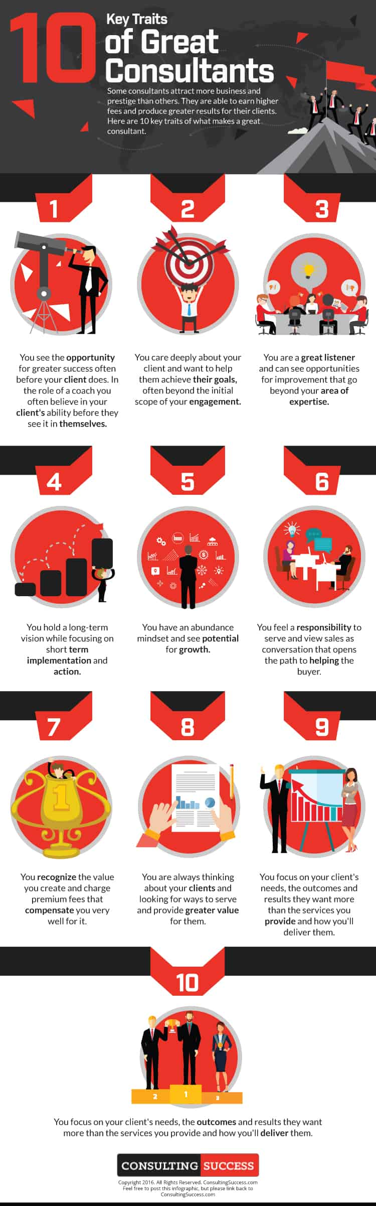 10 Key Traits of Great Consultants Infographic