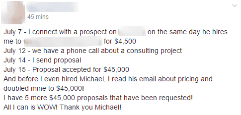double consulting fees