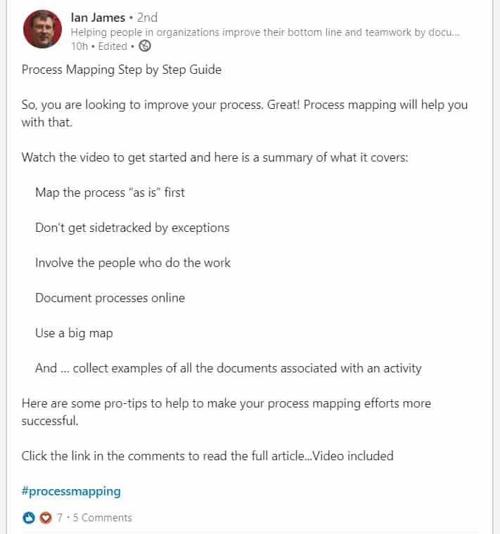 consultant linkedin digital marketing example