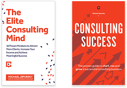 Learn how to become a consultant by reading our international best-selling book, The Elite Consulting Mind and our guide to a successful consulting business,Consulting Success.