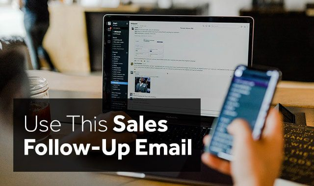 use this sales follow up email for your consulting clients