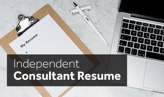 independent consultant resume