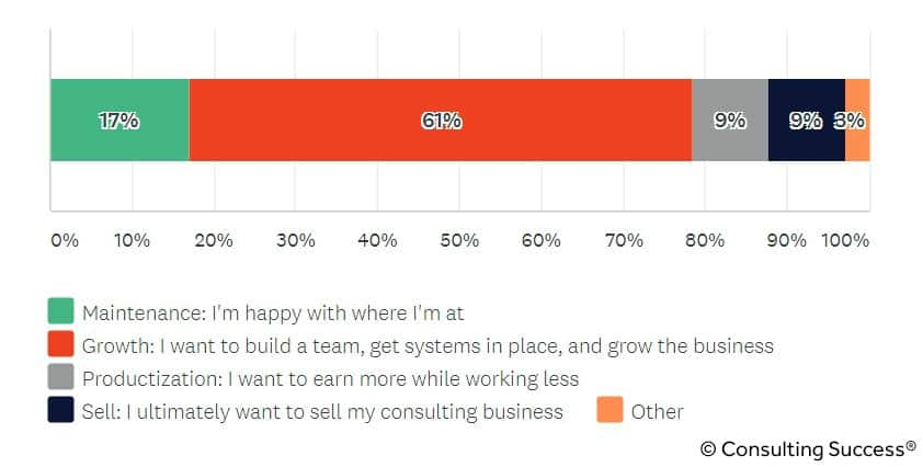 goals for consulting business owners statistic
